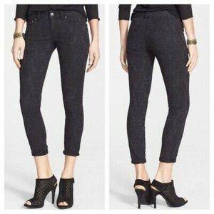 Free People Skinny Jeans Jacquard Low Rise 25